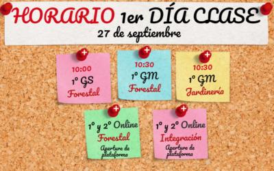 Horario presentaciones lunes 27 septiembre
